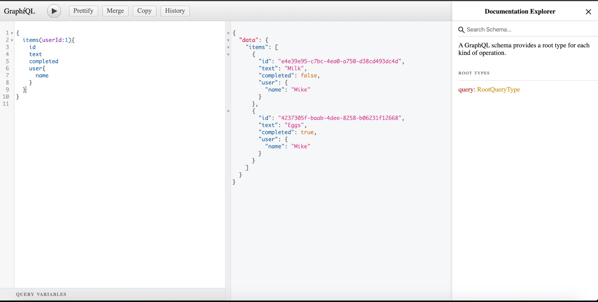 GraphQL query filtered with arguments