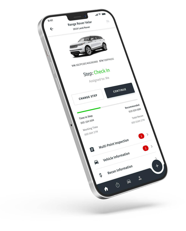 Phone with ReconVelocity App