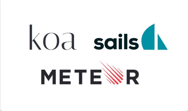 koa, sails, meteor logos