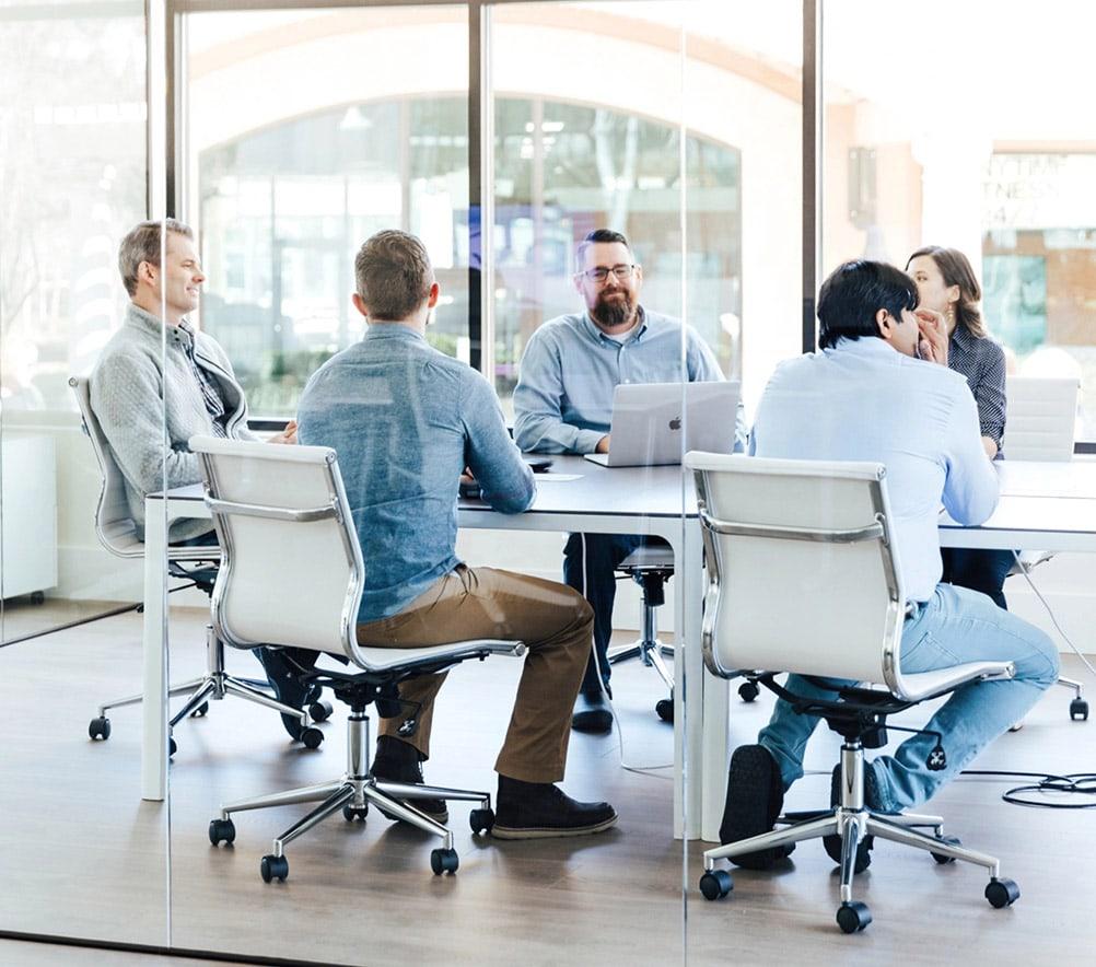 FullStack Labs team in meetings
