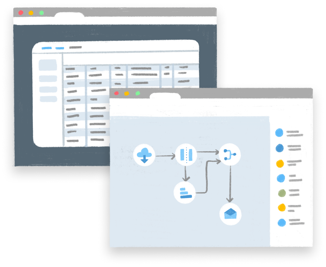 Parabola builder UI illustration