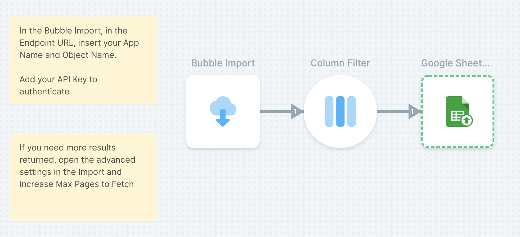 Send your Bubble data to Google Sheets