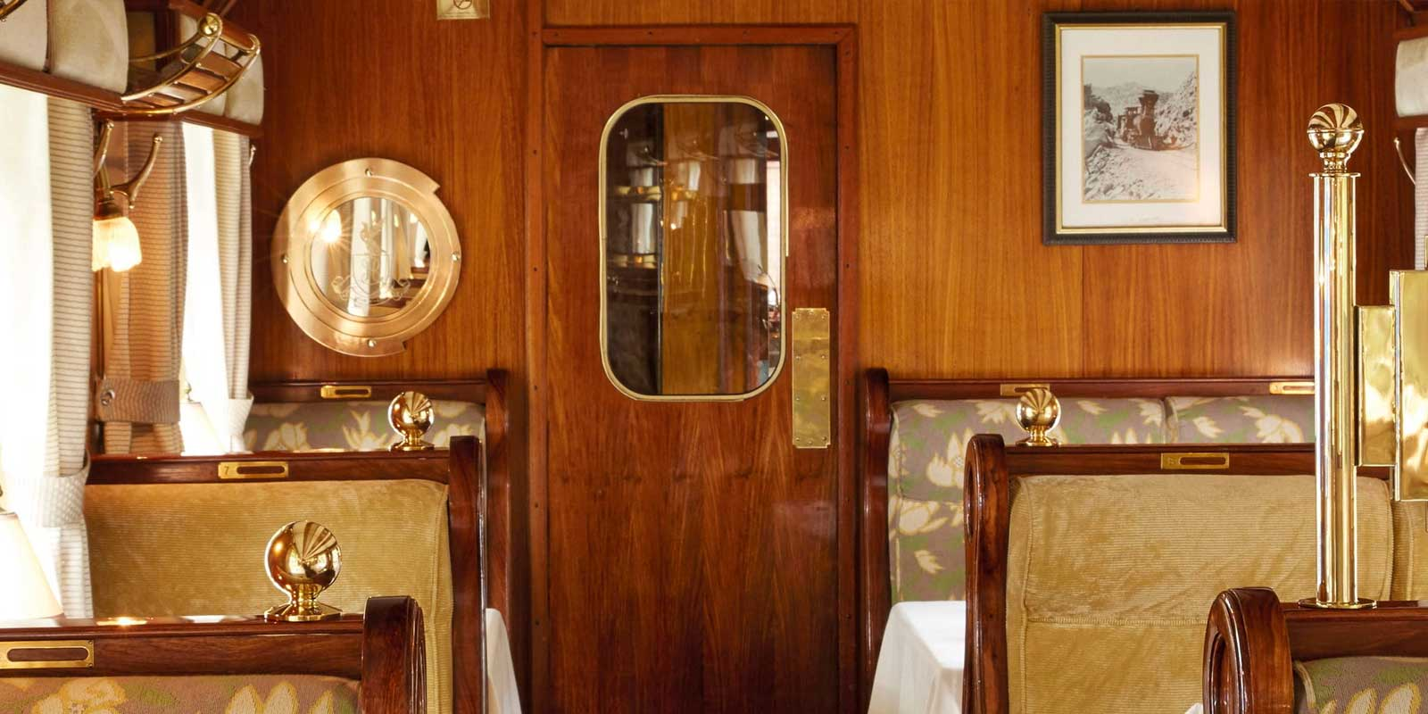 Dining aboard the Belmond Hiram Bingham