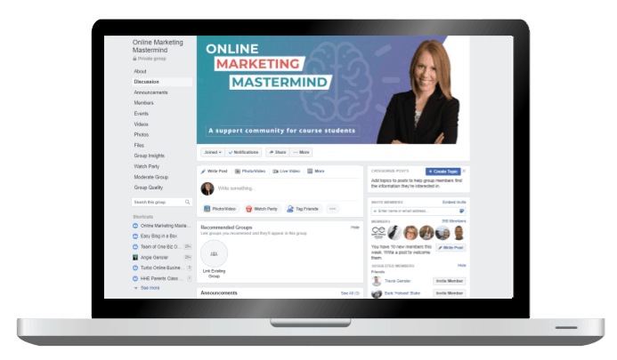 Online Marketing Mastermind Facebook Group