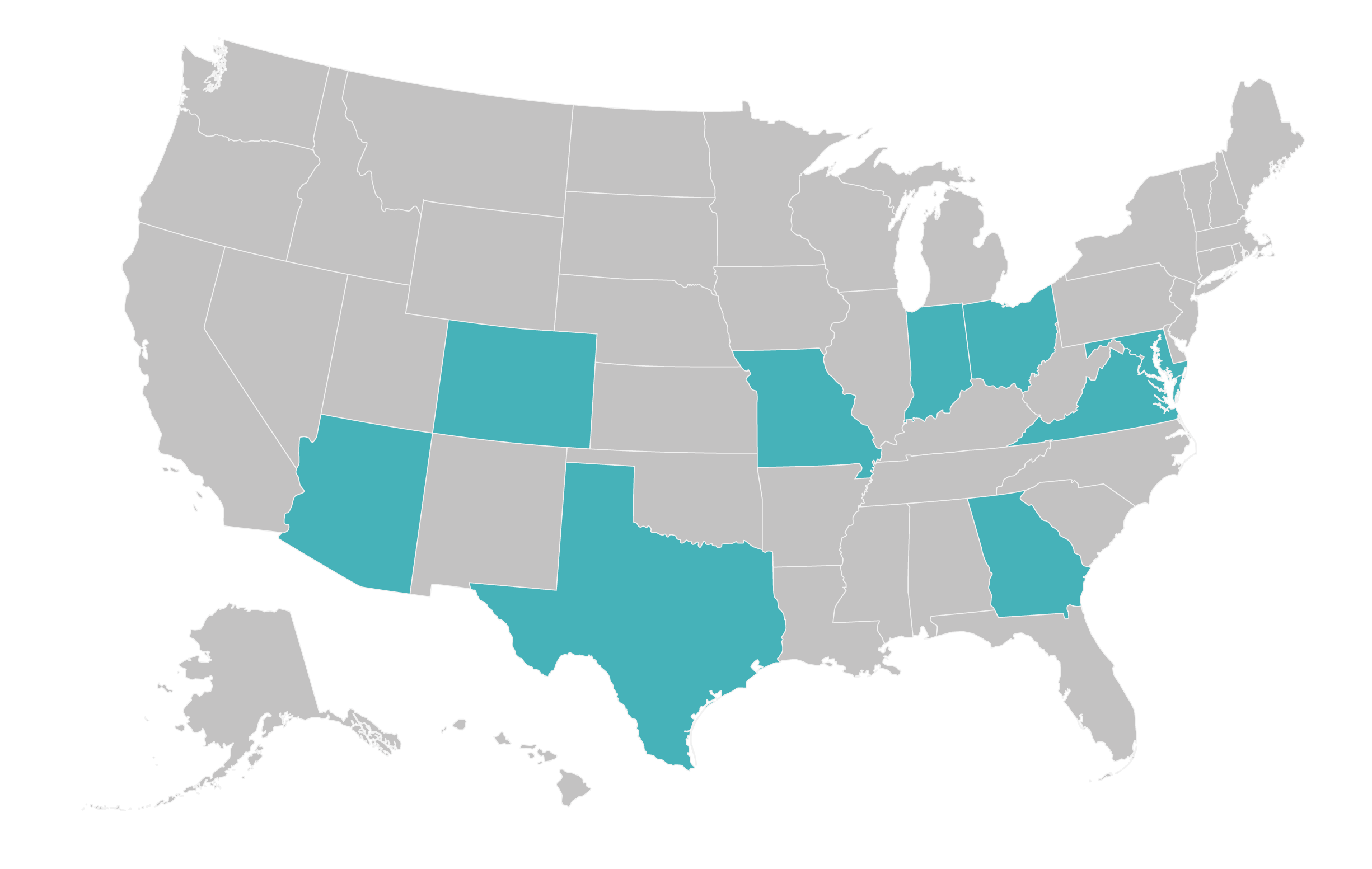 Map of accepted insurance locations