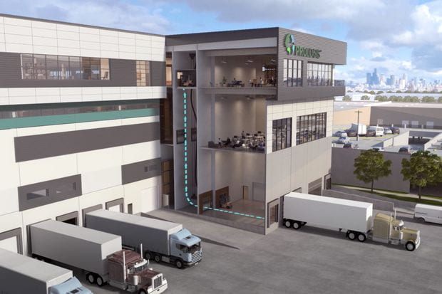 rendering of prologis warehouse exterior