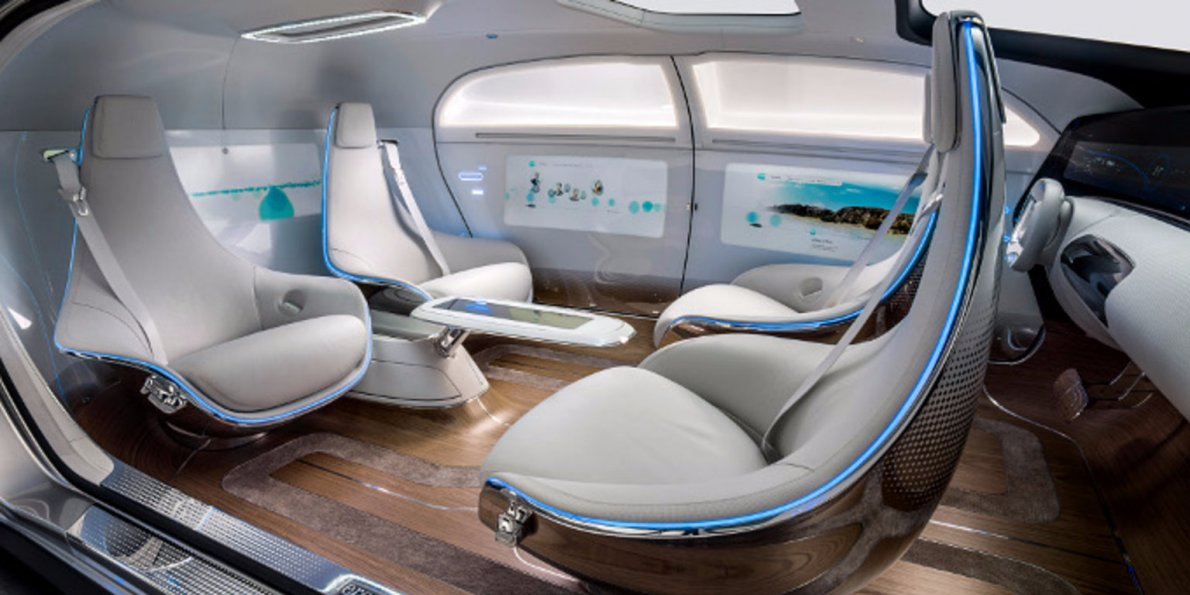 interior of autonomous vehicle