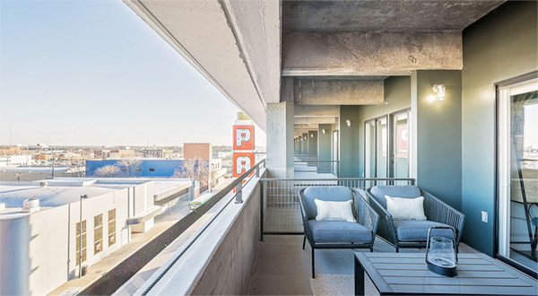 renovated broadway autopark apartment balcony