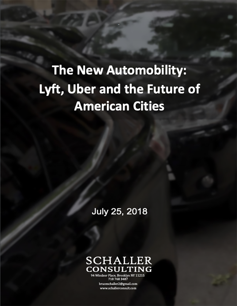 The New Automobility: Lyft, Uber and the Future of American Cities