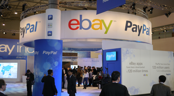 Ebay and PayPal conference exhibit with participants
