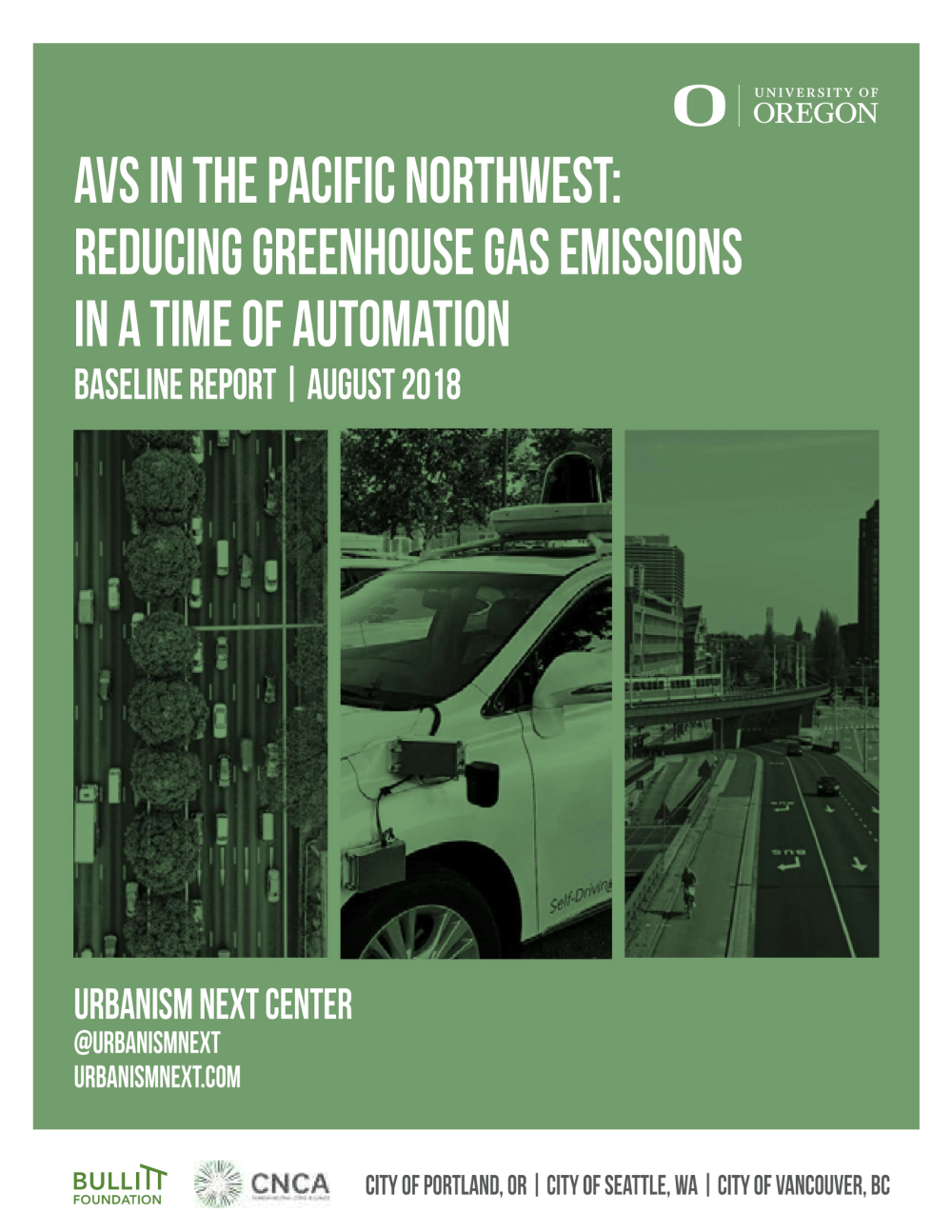 AVs in the Pacific Northwest: Reducing Greenhouse Gas Emissions in a Time of Automation
