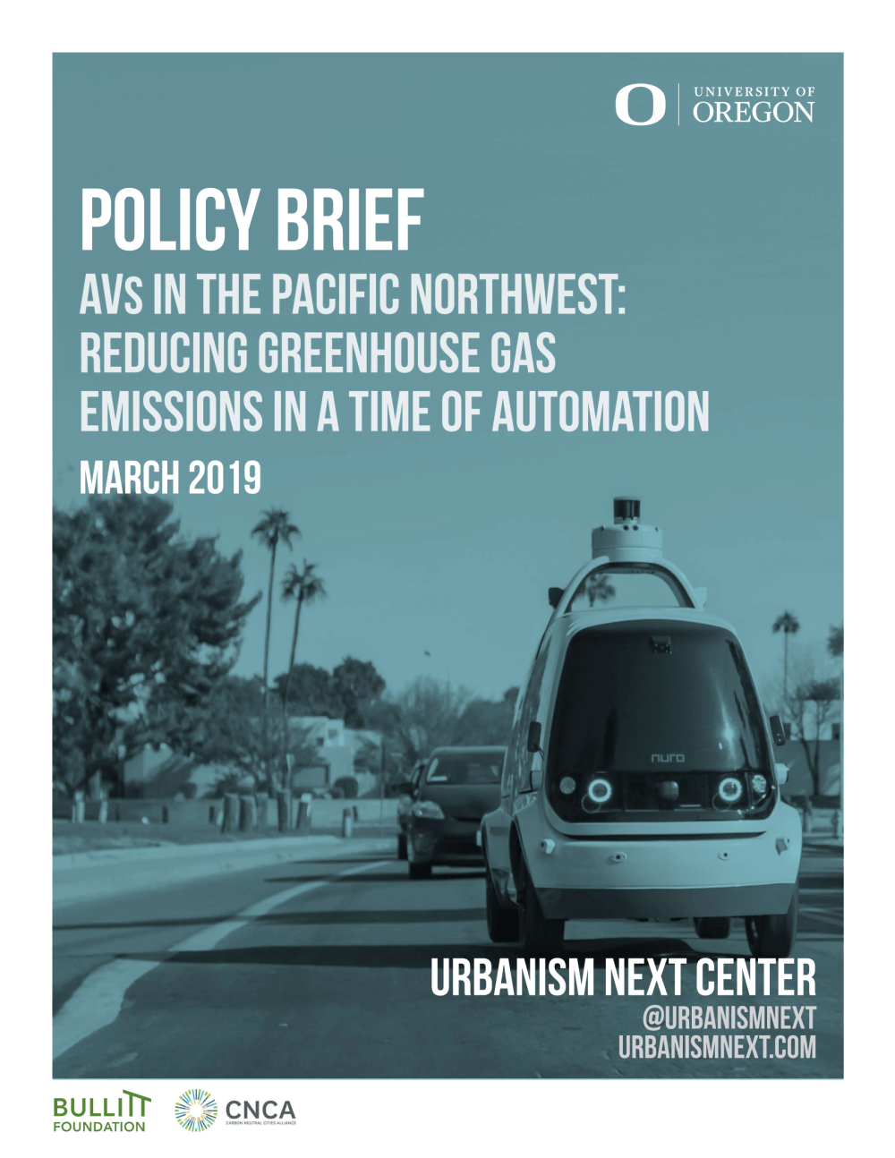 Policy Brief – AVs in the Pacific Northwest: Reducing Greenhouse Gas Emissions in a Time of Automation