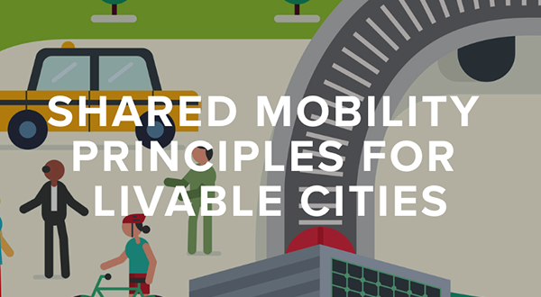 "front page graphic for ""Shared Mobility Principles for Livable Cities"""