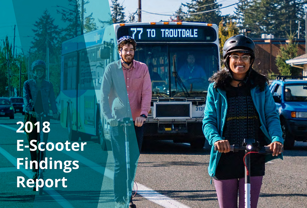 2018 e-scooter findings report front page