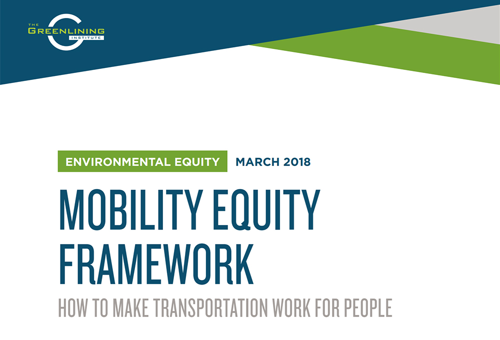 Mobility Equity Framework report cover page
