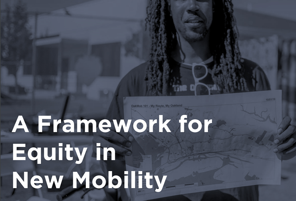 A Framework for Equity in New Mobility report cover page