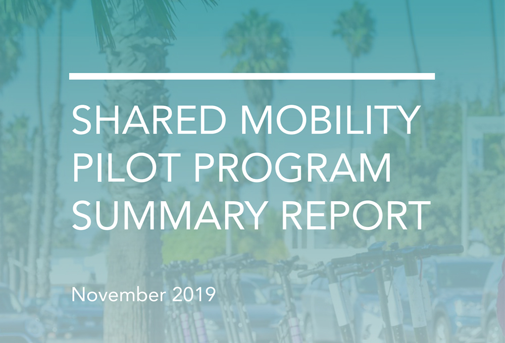 Shared Mobility Pilot Summary Report cover page