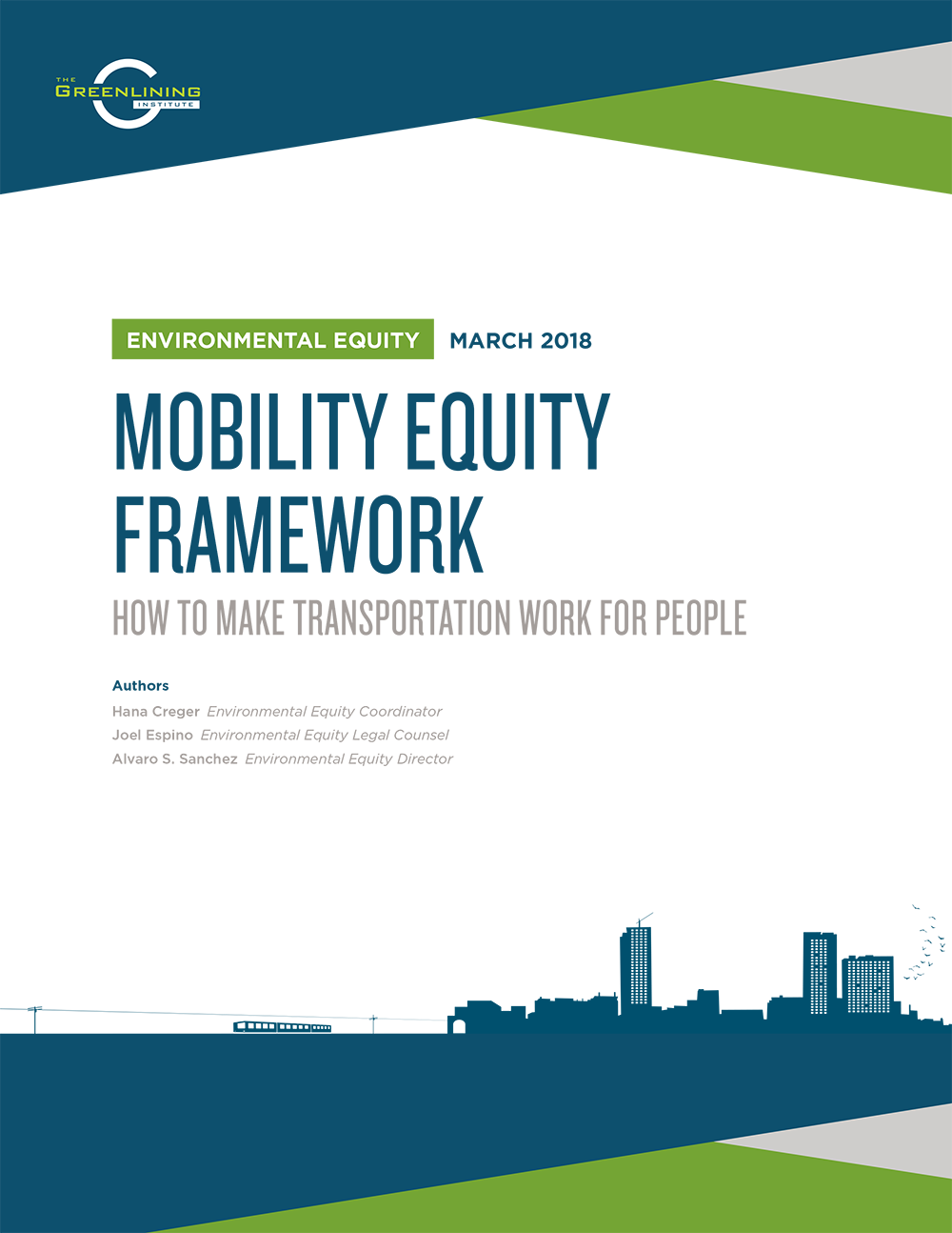 Mobility Equity Framework: How to make transportation work for people