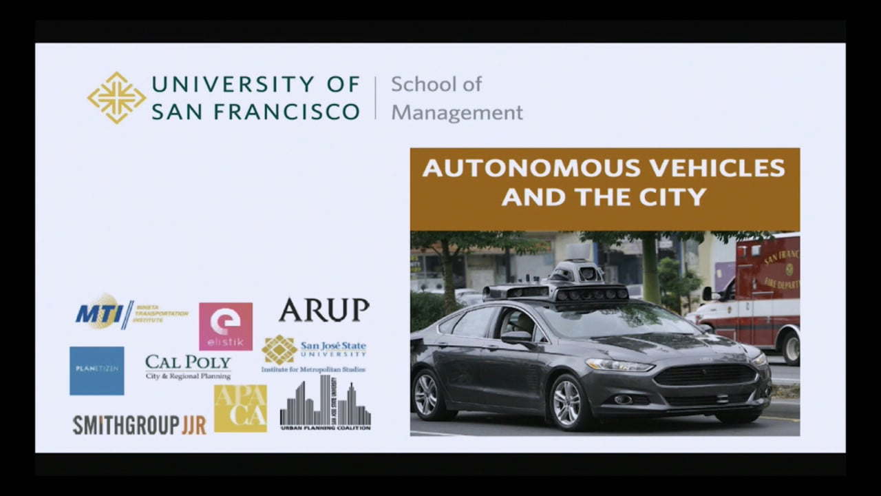 Autonomous Vehicles and the City - Symposium at USF (Nov 2017)