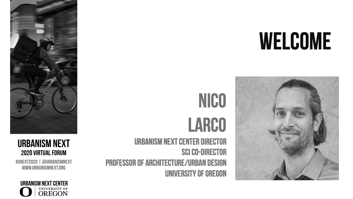 2020 Virtual Forum - Welcome Session (Nico Larco)