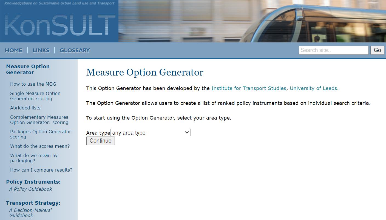 Konsult Measure Option Generator