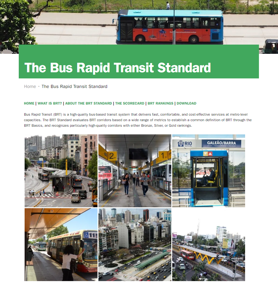 ITDP BRT Scorecard