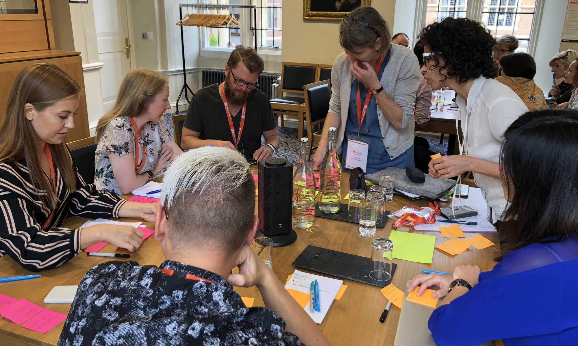 Photo from workshop at UX Cambridge.