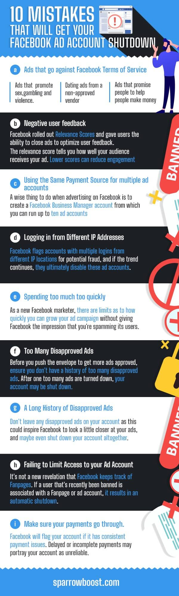 10 Mistakes That Will Get Your Facebook Ad Account Shut Down