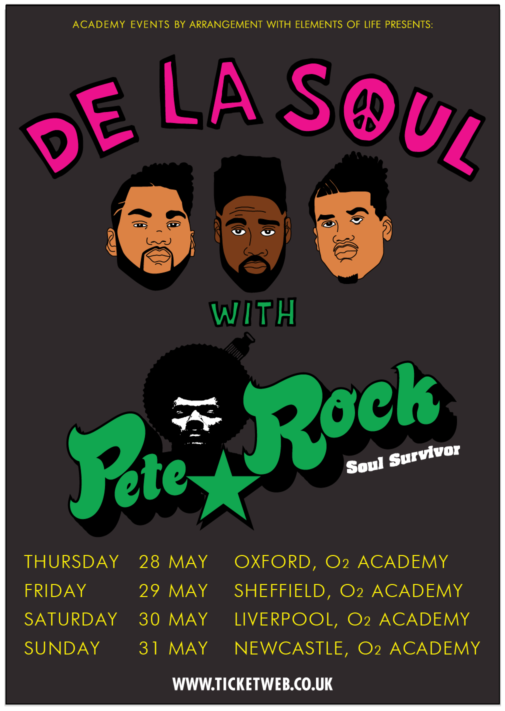De La Soul and Pete Rock UK Tour