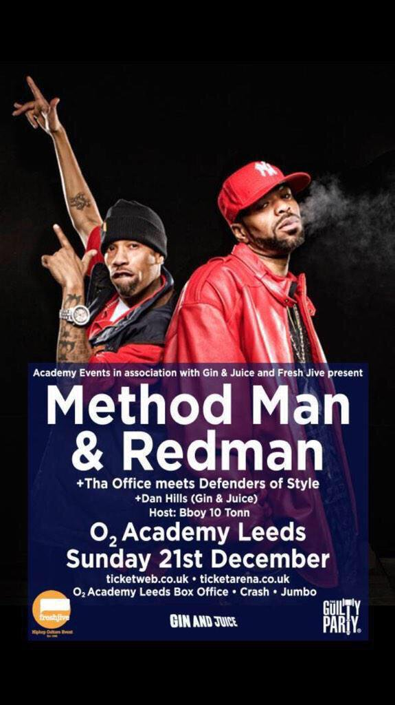 Method Man & Redman UK Tour