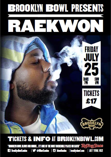 Raekwon at Brooklyn Bowl London