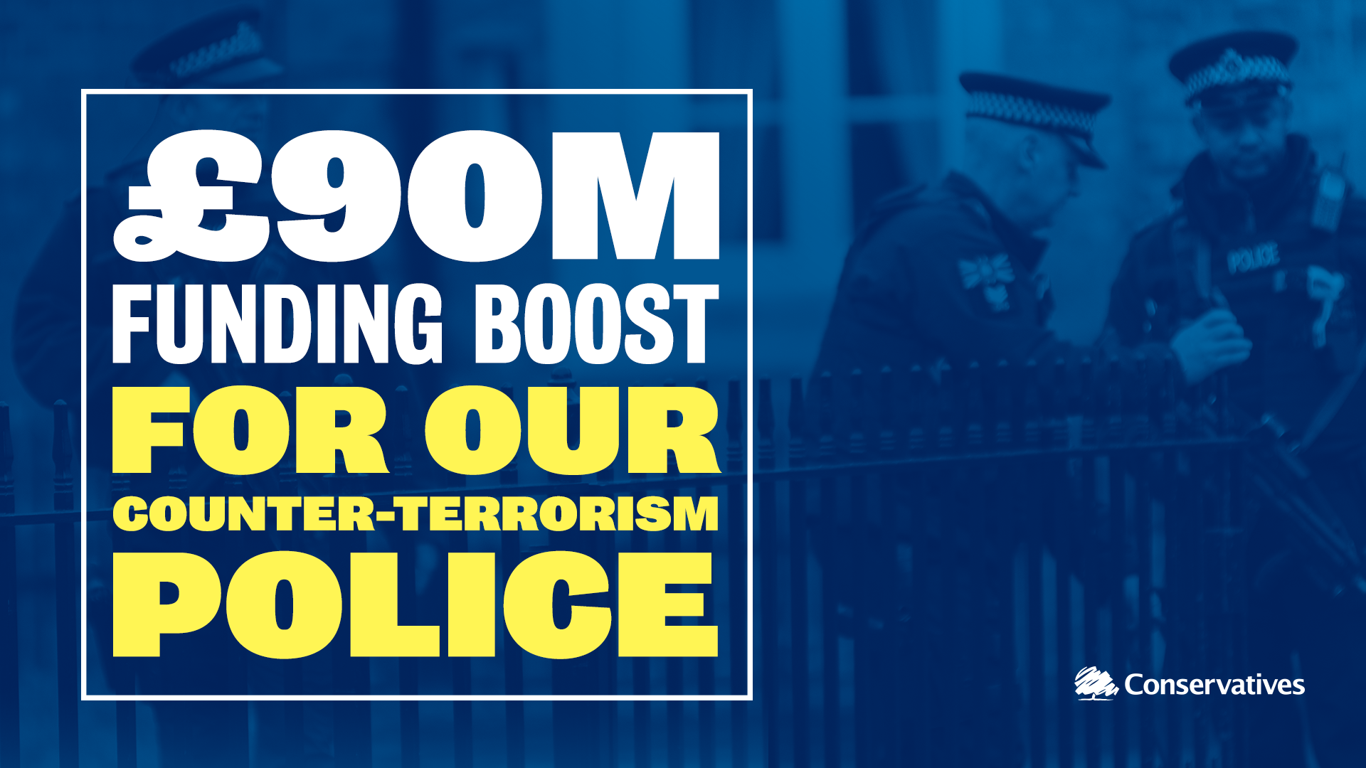 £90m funding boost for our counter-terrorism police