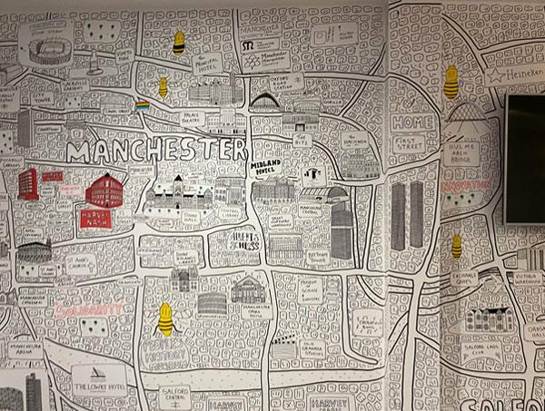 Harvey Nash Manchester map
