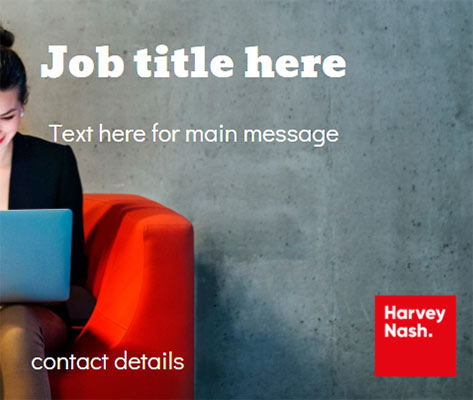 Canva Job Template (woman sitting with laptop)