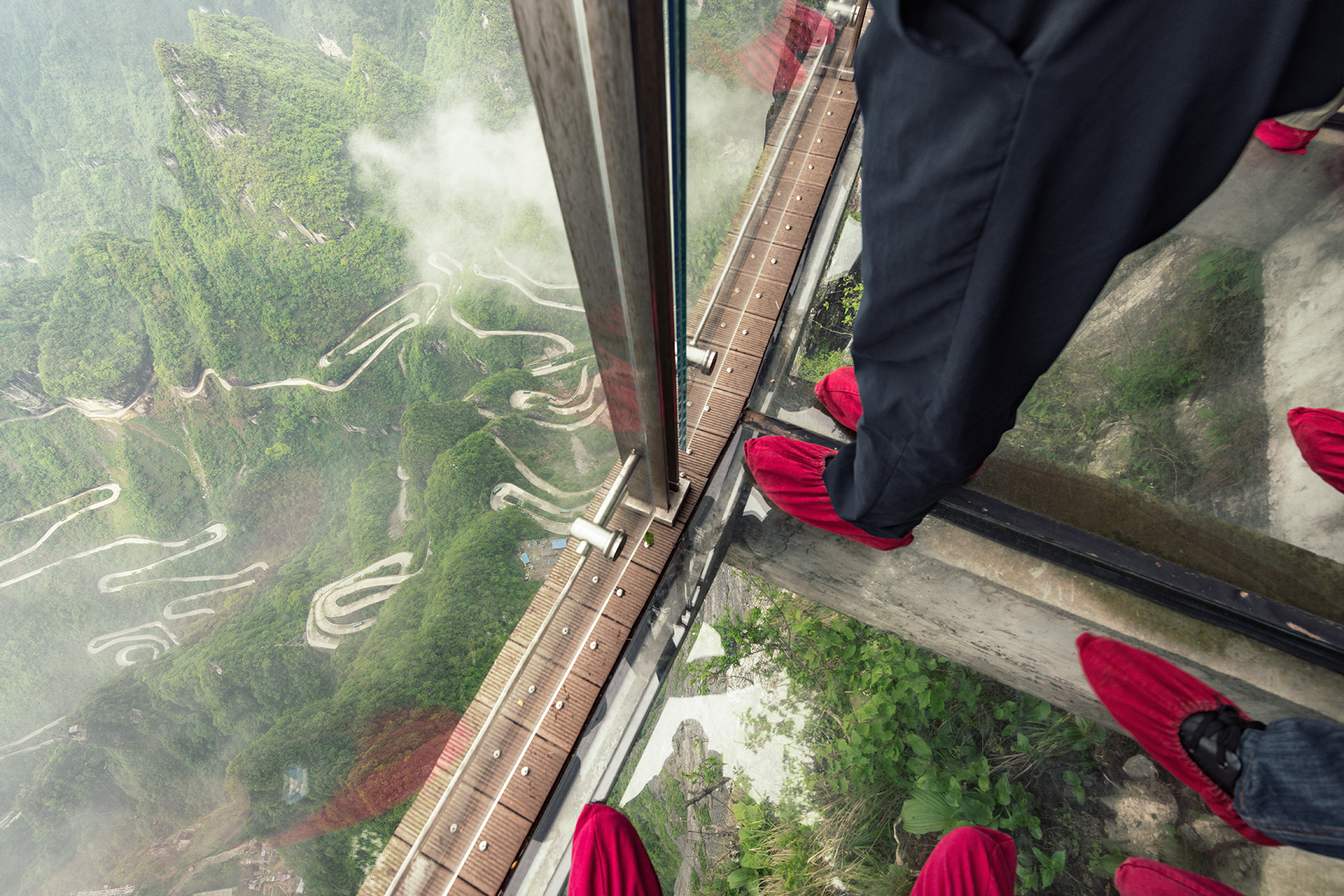 Have you ever stepped out onto a glass walkway over a deep canyon?