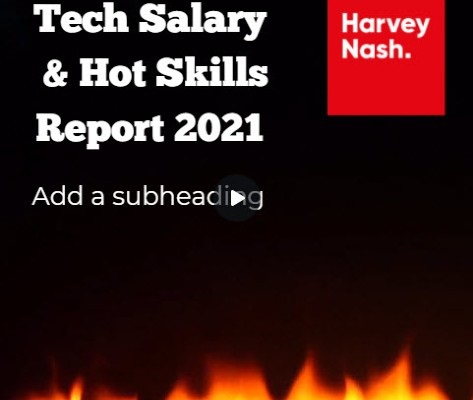 Canva Publication Template - Tech Salary and Hot Skills Report 2021