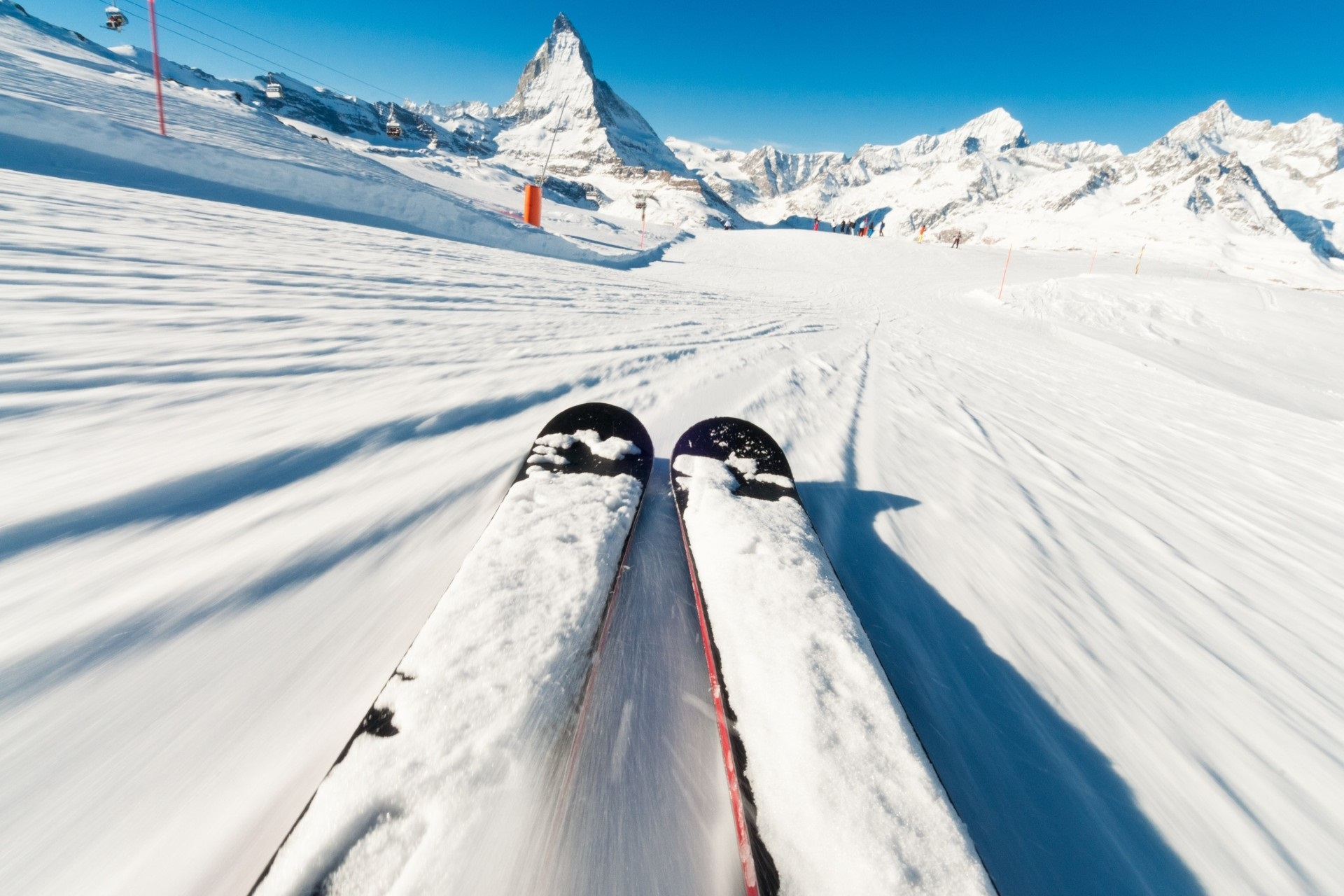 Lean out over your skis