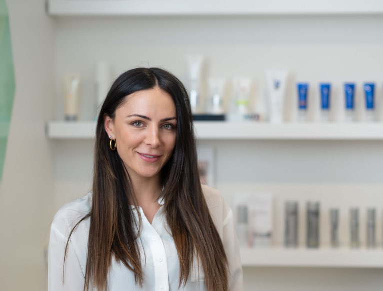 person getting skin treatment
