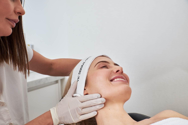 women getting a treatment