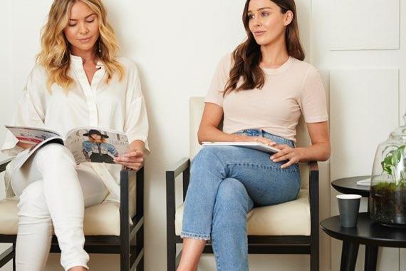 women waiting for a skin treatment
