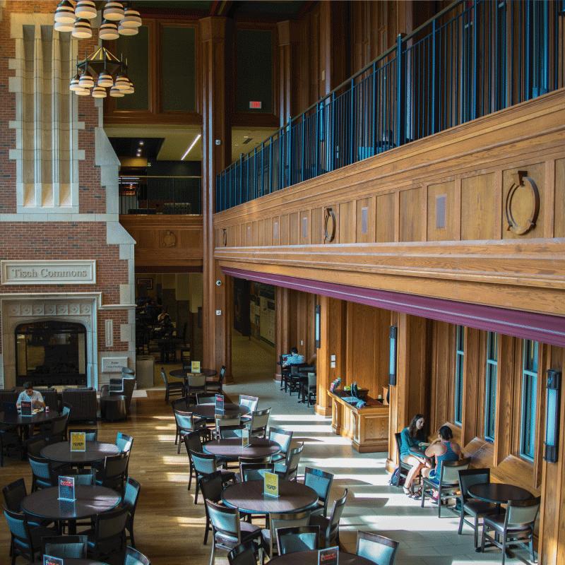 Danforth University Center first floor view at Washington University in St. Louis