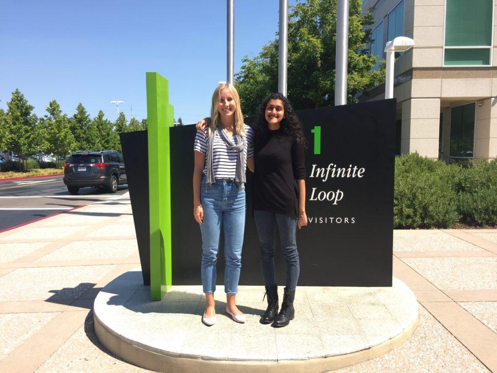 Fin and Priya at Apple