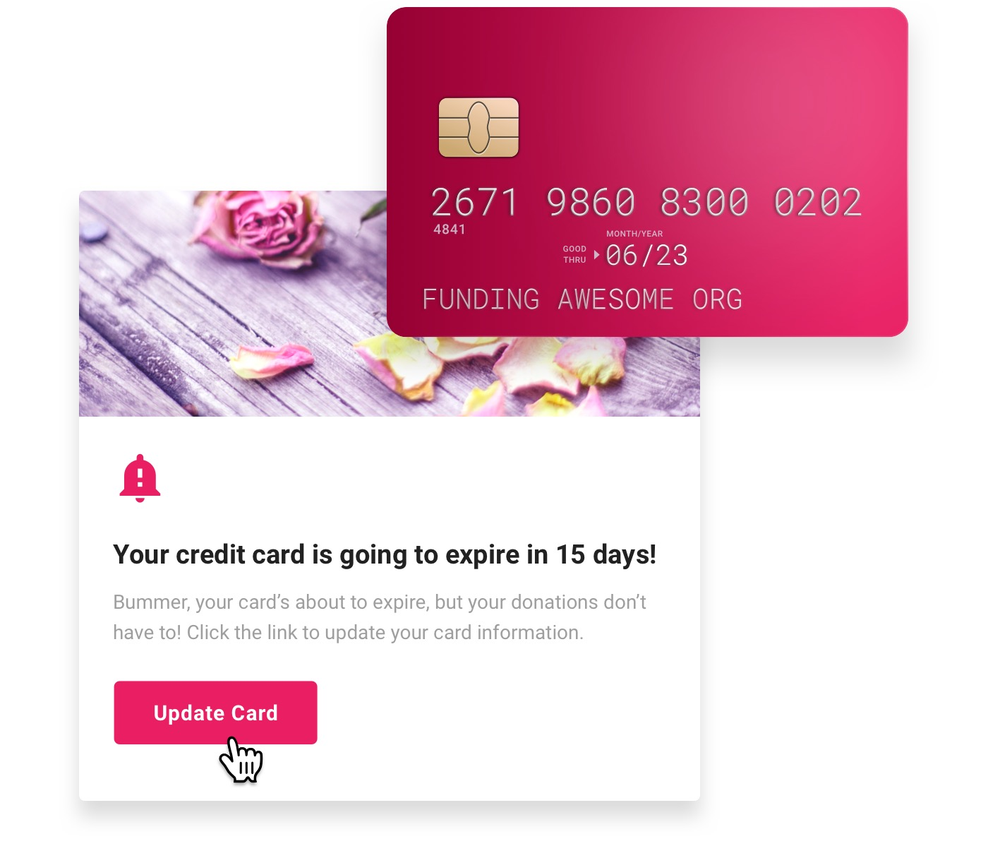 Expiring credit card reminder email.