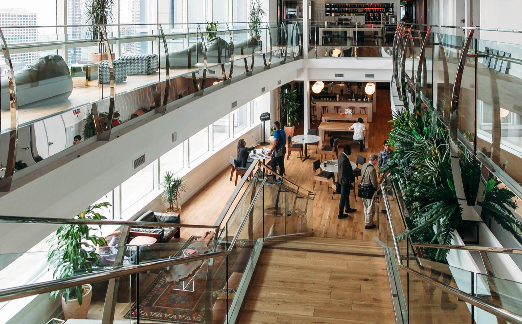 WeWork Los Angeles multi-story office space
