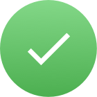 green circle with checkmark