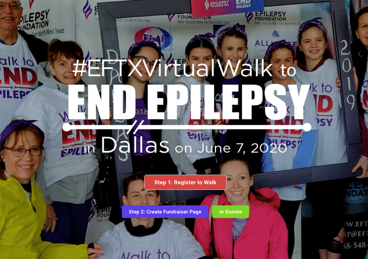 Epilepsy Foundation Texas' Virtual Walk to End Epilepsy campaign site