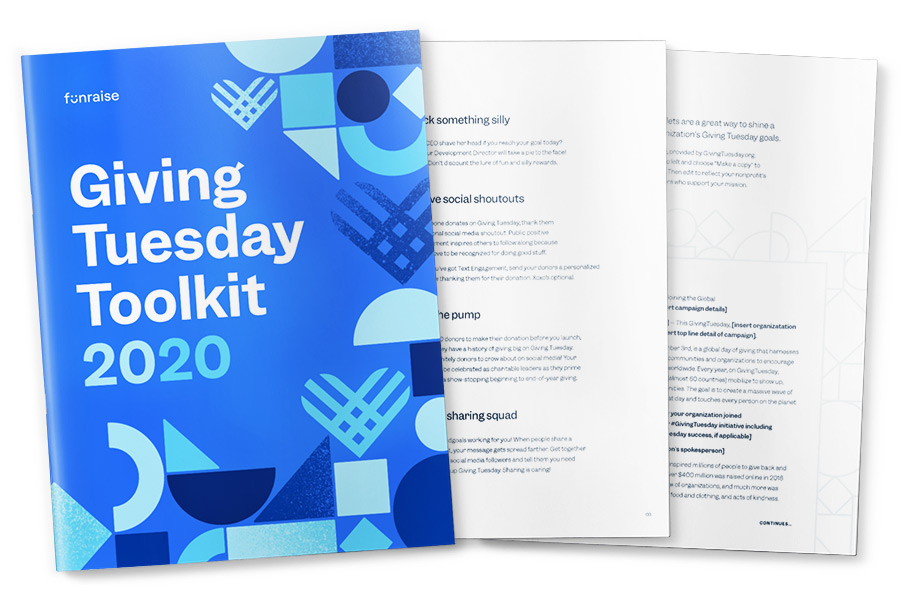 Pages from the Funraise 2020 Giving Tuesday Toolkit