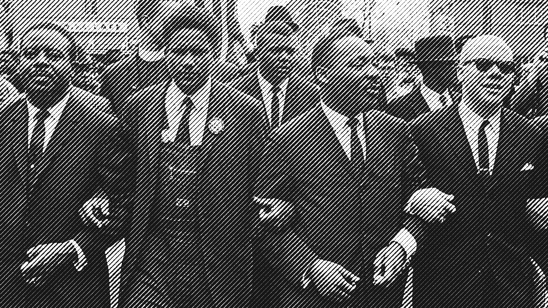 Martin Luther King Jr marching with allies.