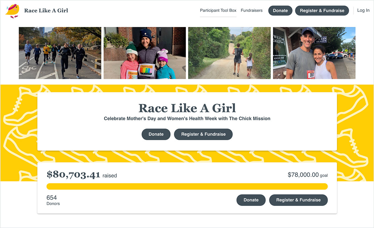 The Chick Mission's Race Like A Girl fundraising campaign