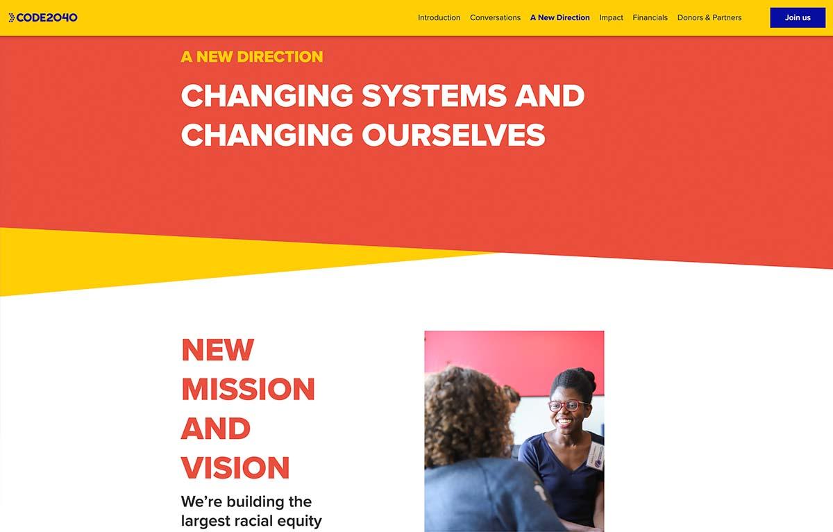 Code 2040 Digital Annual Report Example